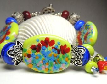 POCKET full of POSIES Handmade Lampwork Bead Bracelet