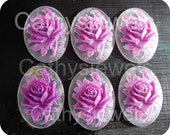 Cameo Set of Six Lilac Rose 40x30 Portrait Cameos