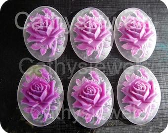 Cameo Set of Six Lilac Rose 40x30 Portrait Cameos