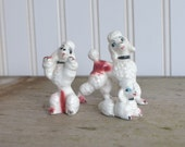 Vintage Poodle  Figurines, Set of 3, Japan,