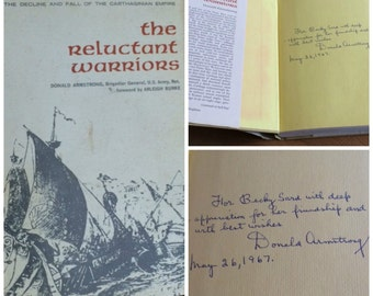 60s Vintage Book Signed by Author 1st Edition The Reluctant Warriors Donald Armstrong 1966 Hardcover