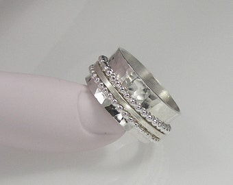 Sterling Silver Spinner Ring, Meditation Ring