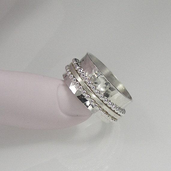 sterling silver spinner ring meditation ring