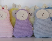 Bunny, Waldorf Toy, Eco Kids Toy, Soft Bunny Rabbit Doll,  Plush, Natural, Eco-Friendly Baby Shower Toy