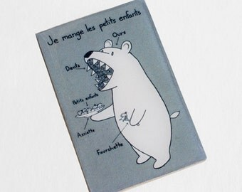 French Bear Magnet