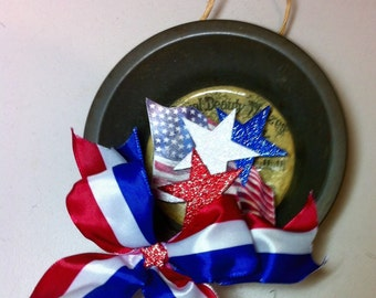 Red white and blue, patriotic ,decoration for The Fourth of July