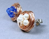 You Customize 14k Rose Gold Fill Post Earrings Earrings Sterling Silver 14k Gold Fill Swarovski Crystal Birthstone Stud Earrings Personalize