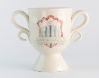 READY TO SHIP - Sale - You Are Special trophy vase