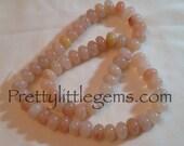 Peach Jade Rondelles Bead Strand