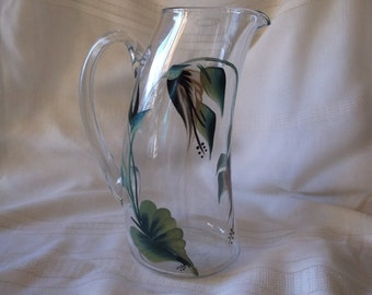 Wine Carafe/Decanter Handpainted, Only One