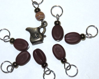 Hand Made Stitch Markers -- You're The Cream in My Coffee