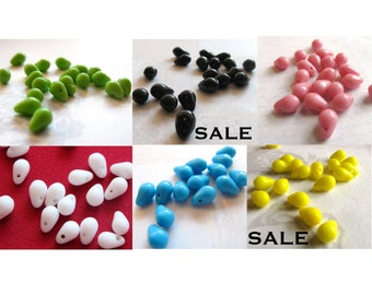 Vintage West German Tear Drop Beads YOU Choose (B505)