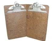 Vintage Clipboards Small Size | Retro Mad Men Industrial Clipboards