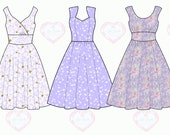 Floral Print Bridesmaids Dress 3 Custom Mix and Match Fit and Flare Print Bridesmaids Dresses