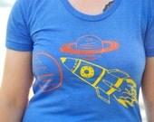 Rocket to the Space Ship Galaxy Tee Women