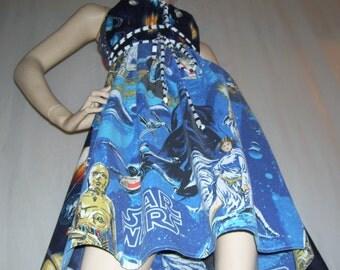Star Wars OOAK Dress Upcycled 1977 Comic Con Geeks Unite Vintage Fabric Adult M L XL Plus