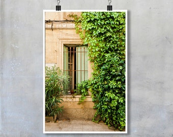 French Window Photograph wooden shutter Provence France French village decor wall art home decor fine art travel photography