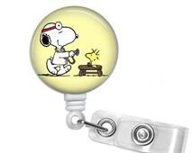 SNOOPY MD Retractable Badge Reel