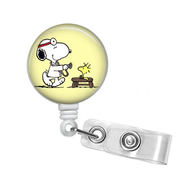 SNOOPY MD Retractable Badge Reel