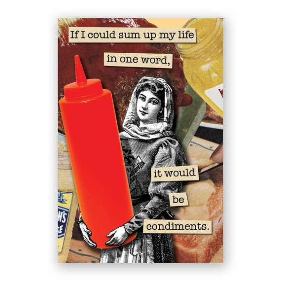 I Love Condiments Magnet - Humor - Gift - Stocking Stuffer - Ketchup - Catsup
