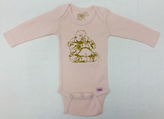 Newborn Pink Happy Buddha Onesie by Jackapotamus on Etsy