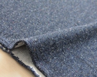 Japanese Fabric Heather double knit - blue - 50cm