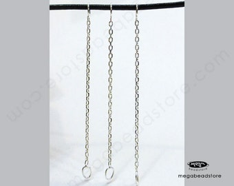 "20 pcs 2"" Long 925 Sterling Silver Cable Chain Connectors F442"