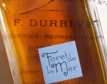 Foret de la Mer Natural Perfume Men's Fragrance Artisanal Small Batch made in Brooklyn, NY by Alchemologie Natural Perfume
