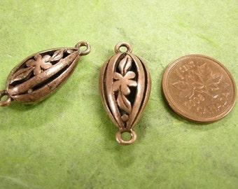 2pc antique copper metal alloy fancy links-1546