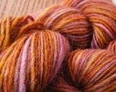 FALLING BRANCH Handspun Wool Yarn Norwegian 169yds 2.9oz 12wpi aspenmoonarts DK sport artyarn knitting