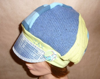 Seattle Seahawks colors #2 - blue and lime green made from preloved clothing by Jax Hats