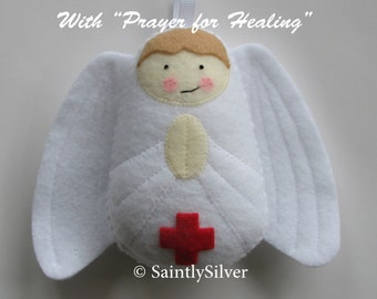 QUICK SHIP...Angel with Prayer for Healing