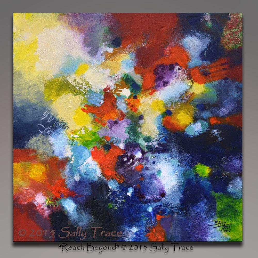 Abstract painting textured painting acrylic by for Textured acrylic abstract paintings