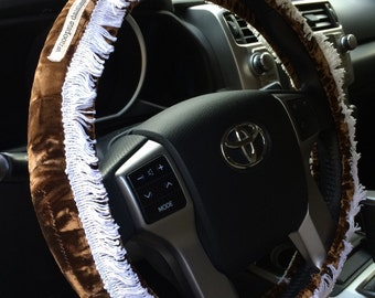 Chocolate Velvet Hippie Chic Non-Slip Steering Wheel Cover