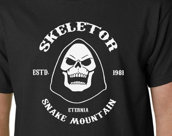 Skeletor t-shirt He-Man Masters of the Universe Sons of Anarchy Kids TV Eighties 80's Mattel