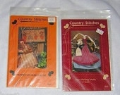 COUNTRY STITCHES Primative Craft Patterns uncut (2) 200, 221, #3 Doll & Bunny