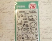 Avery Elle Clear Photopolymer Rubber Stamp Set - Furry Friends