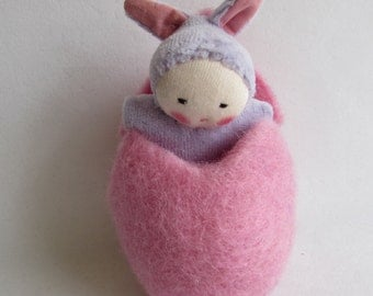 Easter eggs, Waldorf dolls, germandolls, baby bunny, Waldorf party favor, Waldorf toys, tiny baby
