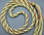 Custom Made Kumihimo Handwoven Rayon Satin Cord Braid You Pick Colors and Shape by All My Beads
