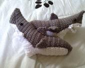 Shark Socks - Men Shark Socks - Women Shark Socks - Adult Shark Socks - Made to Order - US Women 5-10, US Men 9-12