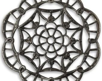 SALE: Vintaj Arte Metal Filigree Grand Kaleidoscope Large 40mm Filigree (AP0015)