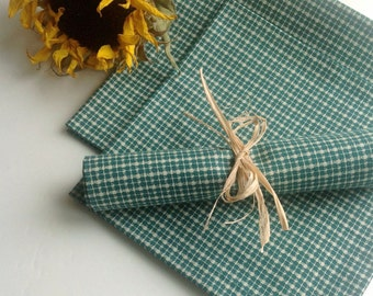 Dinner Napkins Eco Friendly Cotton Cloth Green Fabric Dinner Napkins - set of 4