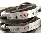 Couples Bracelets, Couples Leather Wrap Bracelets, SET OF 2, LGBTQ Couples, Matching bracelets, see charts for choices, lgbt friendly