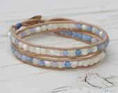 Beachy Double Summer Leather Bracelet Wrap