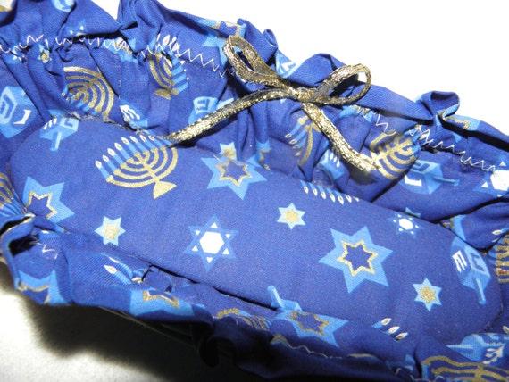 SALE Fabric Lined Basket Hanukkah 8 days Chanukkah
