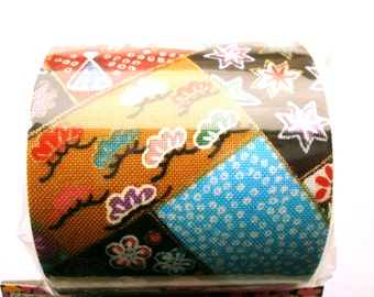Japanese Fabric Tape Multi Pattern Flowers Bamboo  Leaves Fans   FromJapanWithLove