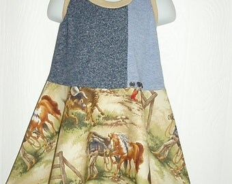 Cowgirl Horse Dress In Size 3