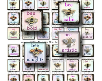 inchies, What Do You Wanna Bee When You Grow Up...  for 1 in. resin pendants,charms and glass tile pendants  INSTANT Digital Download