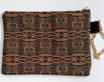 Aztec Tribal Boho Print Clutch Purse