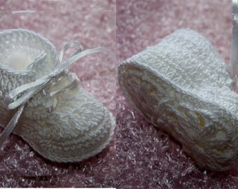 Cheryl's Crochet  CC79-Dainty Baby's First Booties Pattern